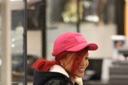 Rihanna shops for shoes at Barney's of New York on Wilshire Boulevard, Beverly Hills.