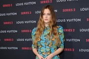 Riley Keough Print Dress