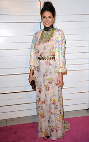 Margherita Missoni wore a floor-length print dress for the Rodeo Drive Walk of Style Award.