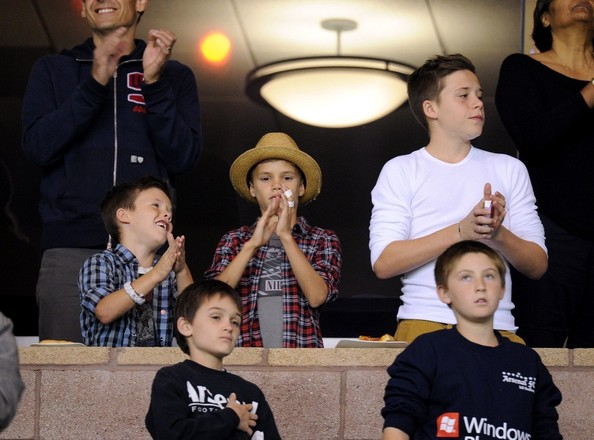 The Beckham Boys Cheer On Dad