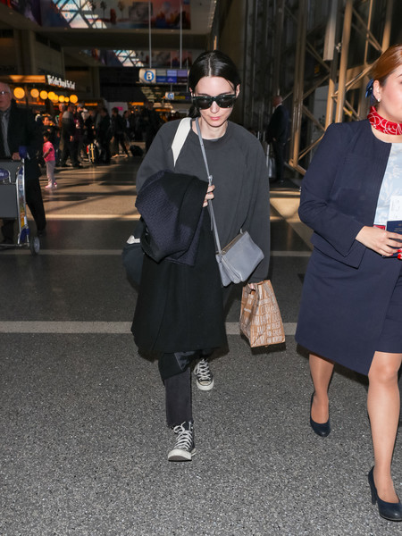More Pics of Rooney Mara Canvas Sneakers (4 of 9) - Athletic Shoes Lookbook - StyleBistro []