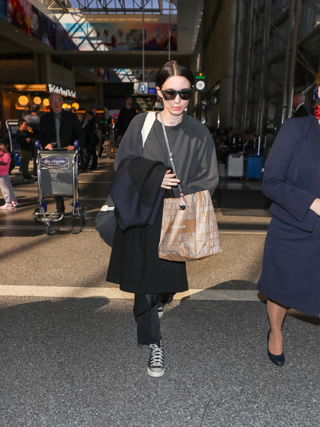 More Pics of Rooney Mara Canvas Sneakers (5 of 9) - Athletic Shoes Lookbook - StyleBistro []