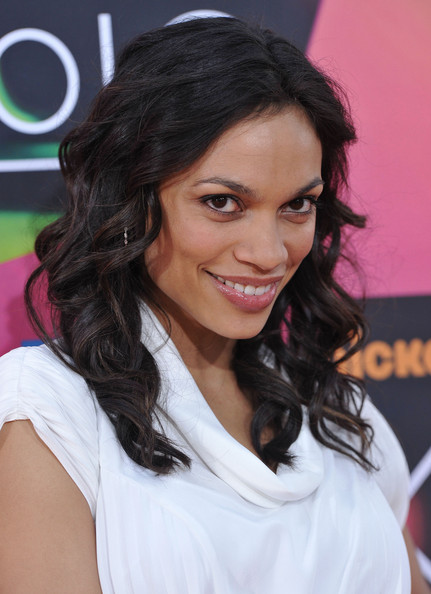Rosario Dawson Medium Curls with Bangs
