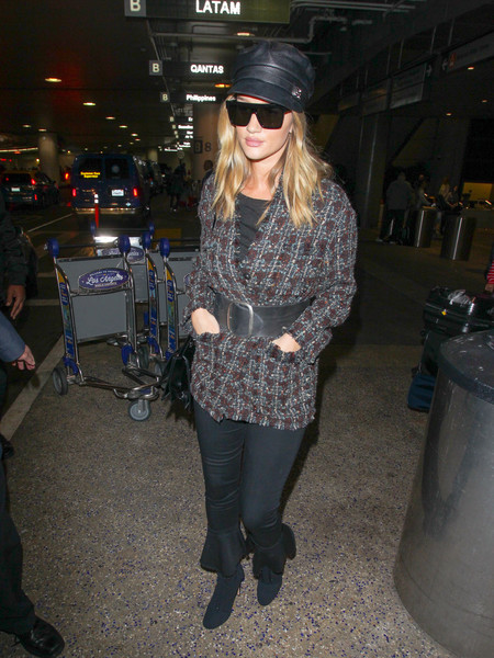 More Pics of Rosie Huntington-Whiteley Tweed Jacket (1 of 8) - Outerwear Lookbook - StyleBistro []