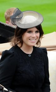Princess Eugenie opted for a more subtle gray topper at the opening of the Royal Ascot.