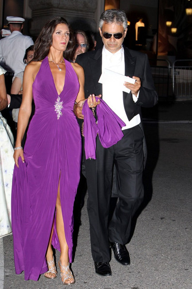 The elegant purple halter gown Veronica wore to Prince Albert's wedding was truly fit for royalty!