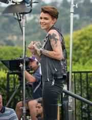 Ruby Rose shows off her ink!