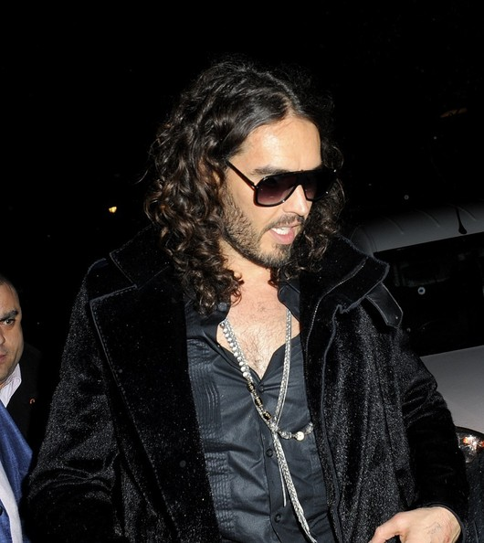 More Pics of Russell Brand Fur Coat (1 of 6) - Fur Coat Lookbook - StyleBistro