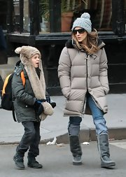 Sarah Jessica Parker braved the New York City chill with the help of some serious winter boots.