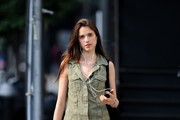 Sarah Margaret Qualley Button Down Shirt