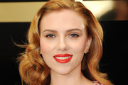 Scarlett Johansson strikes a pose at Selfridges to promote Dolce & Gabbana's makeup range.