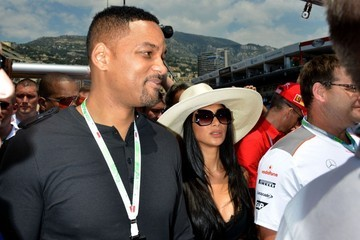 Nicole Scherzinger and Will Smith at Grand Prix Formula 1