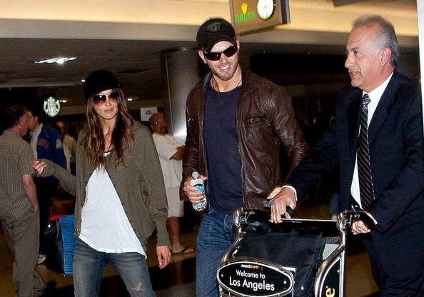Kellan Lutz and Sharni Vinson in LA