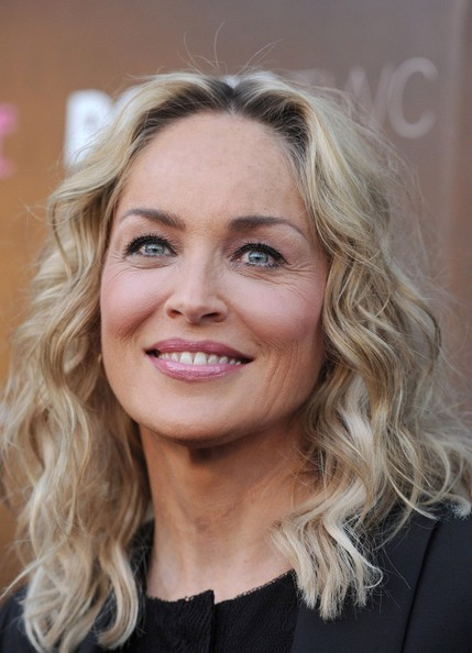 Sharon Stone Medium Wavy Cut