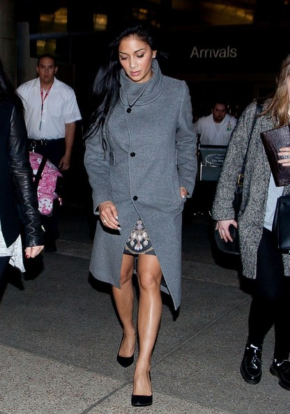 More Pics of Nicole Scherzinger Wool Coat (5 of 16) - Nicole Scherzinger Lookbook - StyleBistro