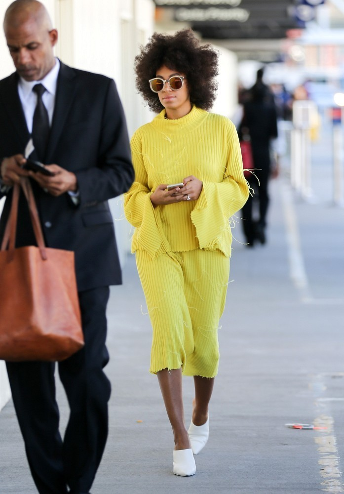 Solange Knowles at LAX