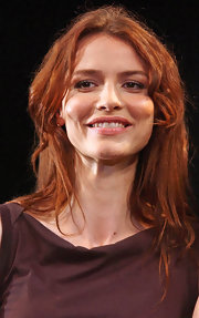Saffron Burrows kept it casual with a layered hairstyle at the 'Some Girls' photocall.