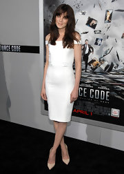 Michelle Monaghan dazzled in pointy nude pumps at the premiere of 'Source Code.'