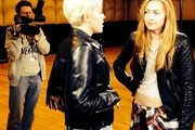 Miley Cyrus and Brandi Cyrus Photo