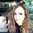 Jessica Alba Gets Her Hair Done