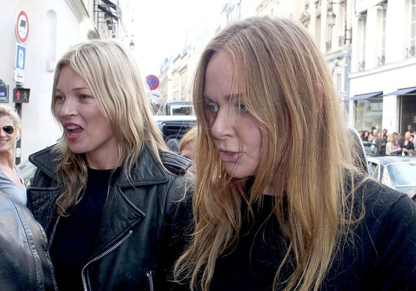 Kate Moss and Stella McCartney out in Paris
