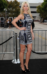 Alyson Michalka stood tall at the 'Super 8' premiere in black peep-toe slingbacks.