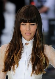 Jessica Biel looked like she was about to walk the runway with this high-fashion 'do.
