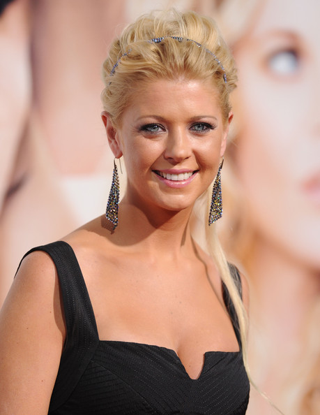 Tara Reid Dangling Gemstone Earrings