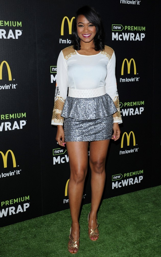 Tatyana ali style fashion looks stylebistro tatyana ali opted for a futuristic look when she chose this frock with a white top altavistaventures Images