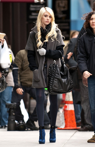 Taylor Momsen Leather Hobo Bag