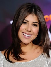 Daniella Monet wore her layered cut down at the TeenNick HALO Awards.