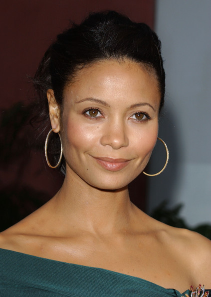 Thandie Newton Gold Hoops