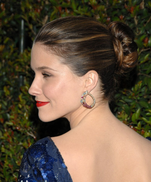 More Pics of Sophia Bush Classic Bun (1 of 9) - Sophia Bush Lookbook - StyleBistro