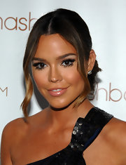 Brittany Binger wore false fringes on both her upper and lower lash lines at the Art of Elysium Auction.
