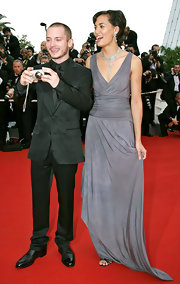 Elijah Wood went all black in his suit at the Cannes Film Fest.