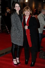 Sophie McShera stepped out of the 'Downton Abbey' kitchen and onto the red carpet sporting this classic, gray tweed coat.