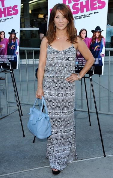 Cheri Oteri opted for a cool tribal-print maxi dress for the premiere of 'The Hot Flashes.'
