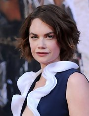 Ruth Wilson complemented her classy dress with a modern layered razor cut when she attended the premiere of 'The Lone Ranger.'