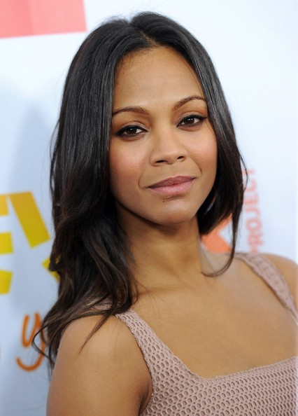More Pics of Zoe Saldana Long Wavy Cut (1 of 7) - Long Wavy Cut Lookbook - StyleBistro