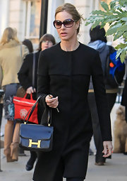 Trinny Woodall carried a chic black Hermes bag while out on a stroll in Notting Hill.