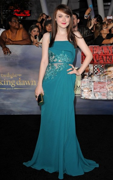 Dakota Fanning in Elie Saab