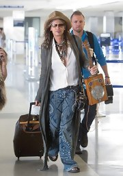 Steven Tyler looked ever the rock star with these funky print flares.