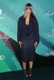 Dascha Polanco teamed her dress with edgy-sexy strappy heels.