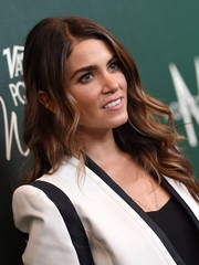 Nikki Reed attended the Variety Power of Women event wearing her long hair down with boho waves.