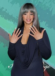 Dascha Polanco showed off some fierce nail art on the Variety Power of Women red carpet.