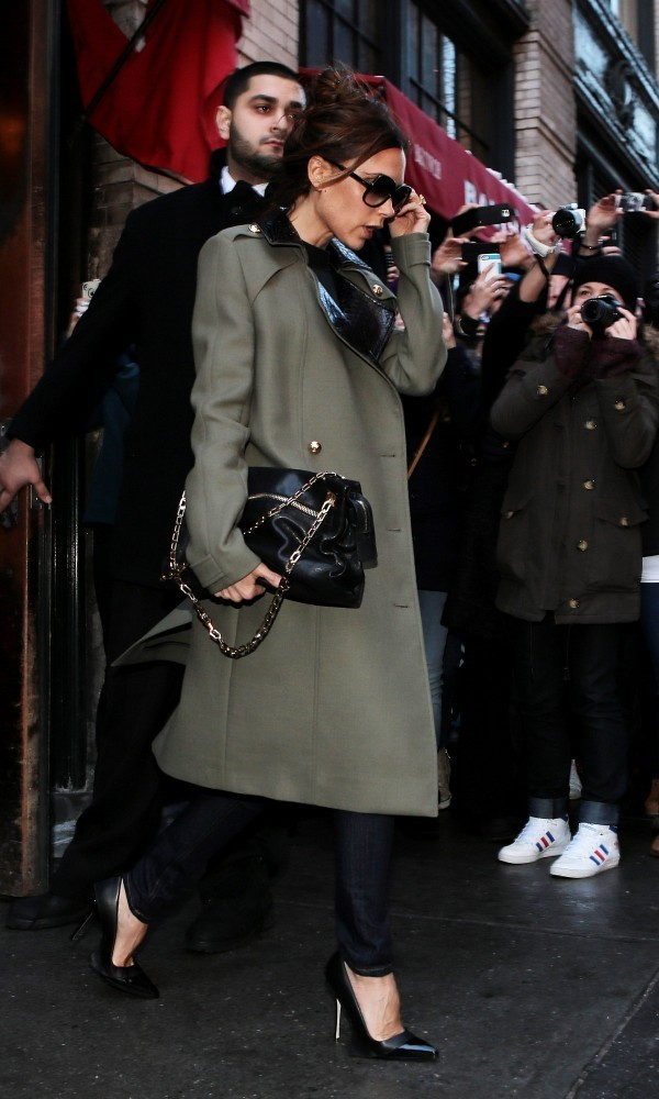 Victoria Beckham Leaves Balthazar in NYC
