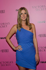 Nicky Hilton paired her one-shoulder dress with delicate silver bangle bracelets.