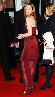 Andrea Riseborough wore a rose gold and white diamond cuff at the London premiere of 'W.E.'