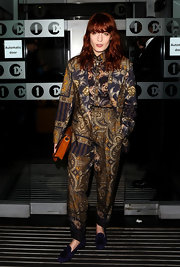 Florence Welch embraced prints in a bold way in a head-to-toe paisley suit.