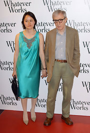 Soon-Yi Previn showed off her satin dress while attending the 'Whatever Works' premiere.